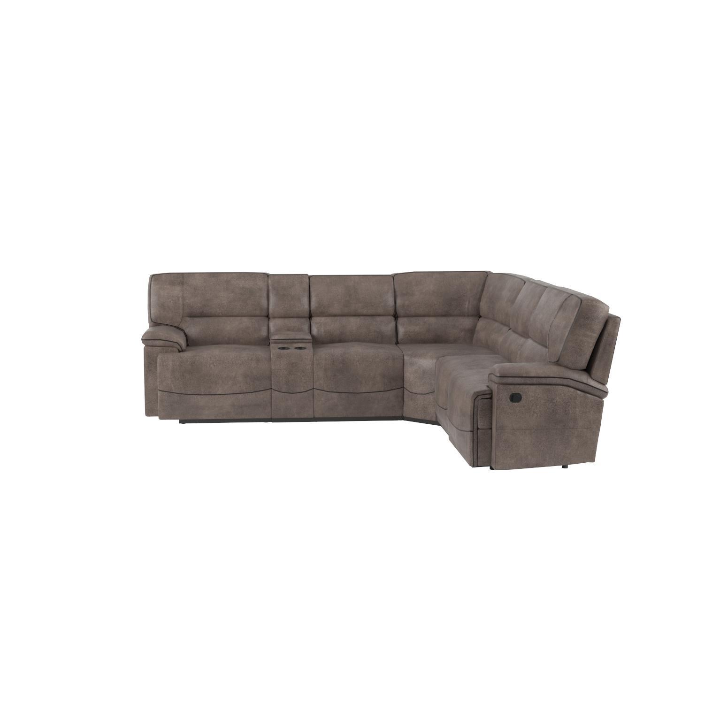 Elegant 6 piece microfiber sectional sofa sectional sofas for 6 piece microfiber sectional sofa