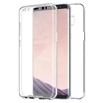 TBOC Funda para Samsung Galaxy S8 Plus - S8+ - Carcasa [Transparente] Completa [Silicona TPU] Doble Cara [360 Grados] Protección Integral Total ...