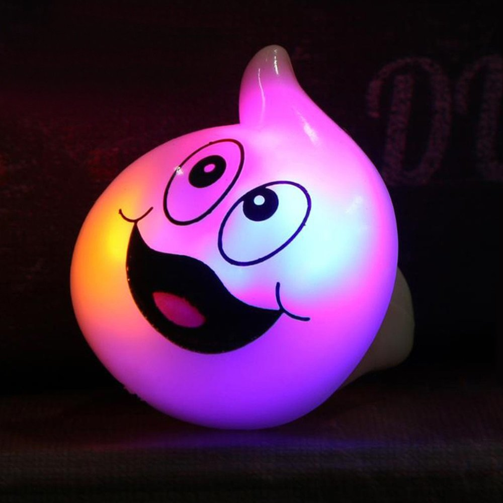 Ruanyi Warm Discoloration of RGB Halloween Bar Dance Props LED Glow Rings Ghost Pumpkin Ring Containing Batteries LED lighting by Ruanyi (Image #1)