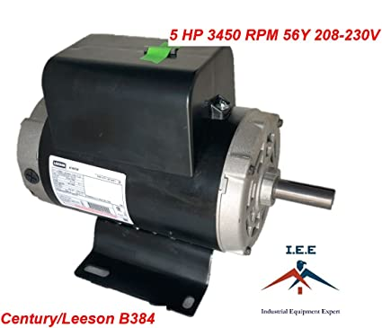 54421193 Ingersoll Rand B384 Century 5 HP Compressor Motor Electric 56Y Leeson - - Amazon.com