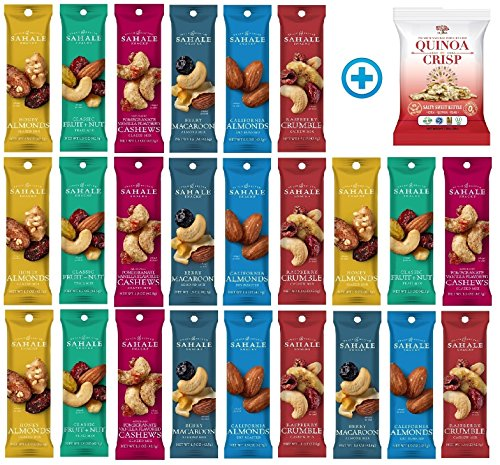(Sahale Snacks All Natural Nut Blends Grab And Go Variety Pack (1.5 oz x 24 Packs) with Quinoa Crisp Ketttle )