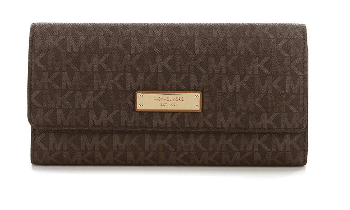 378ba33129c9 Amazon.com: Michael Michael Kors Womens Jet Set Signature Checkbook Wallet:  Shoes