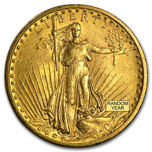 1907-1933 $20 Saint-Gaudens Gold Double Eagle VF (Random Year) G$20 Very Fine