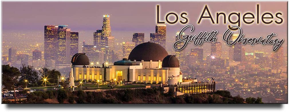 Los Angeles panoramic fridge magnet California souvenir Griffith Observatory