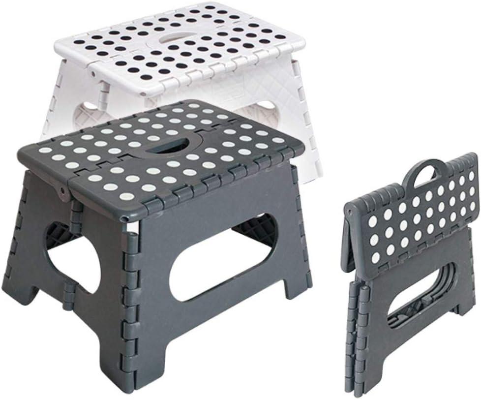 Hauteur id/éale Office-Weiss hibuy Tabouret Pliant Pliable avec poign/ée pour Cuisine et m/énage Antid/érapant
