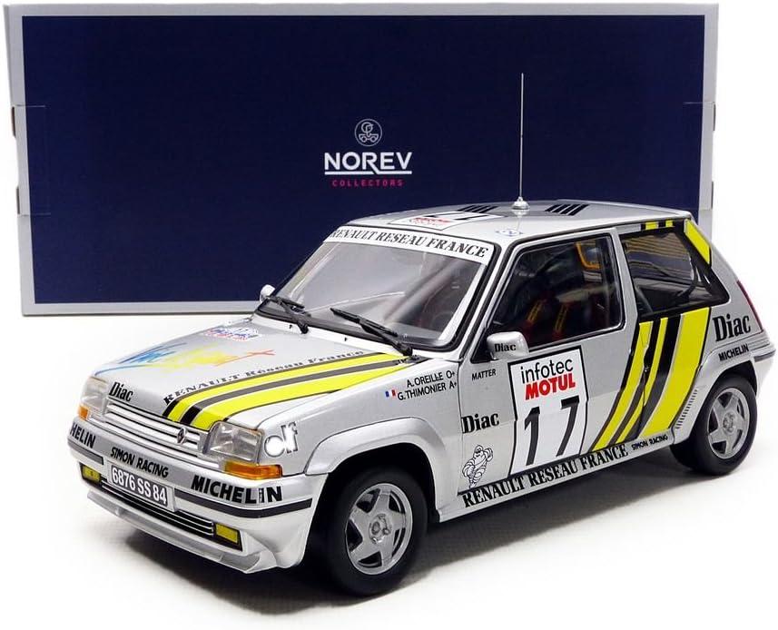 NOREV RENAULT 5 GT TURBO 1//18 RALLYE DE COTE IVOIRE 1989-185198