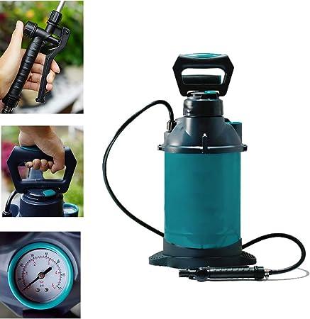 SRFDD Pulverizador de jardín con barómetro, pulverizador de presión de jardín y jardín de 5 litros para Productos químicos, Fertilizantes, herbicidas y pesticidas: Amazon.es: Hogar