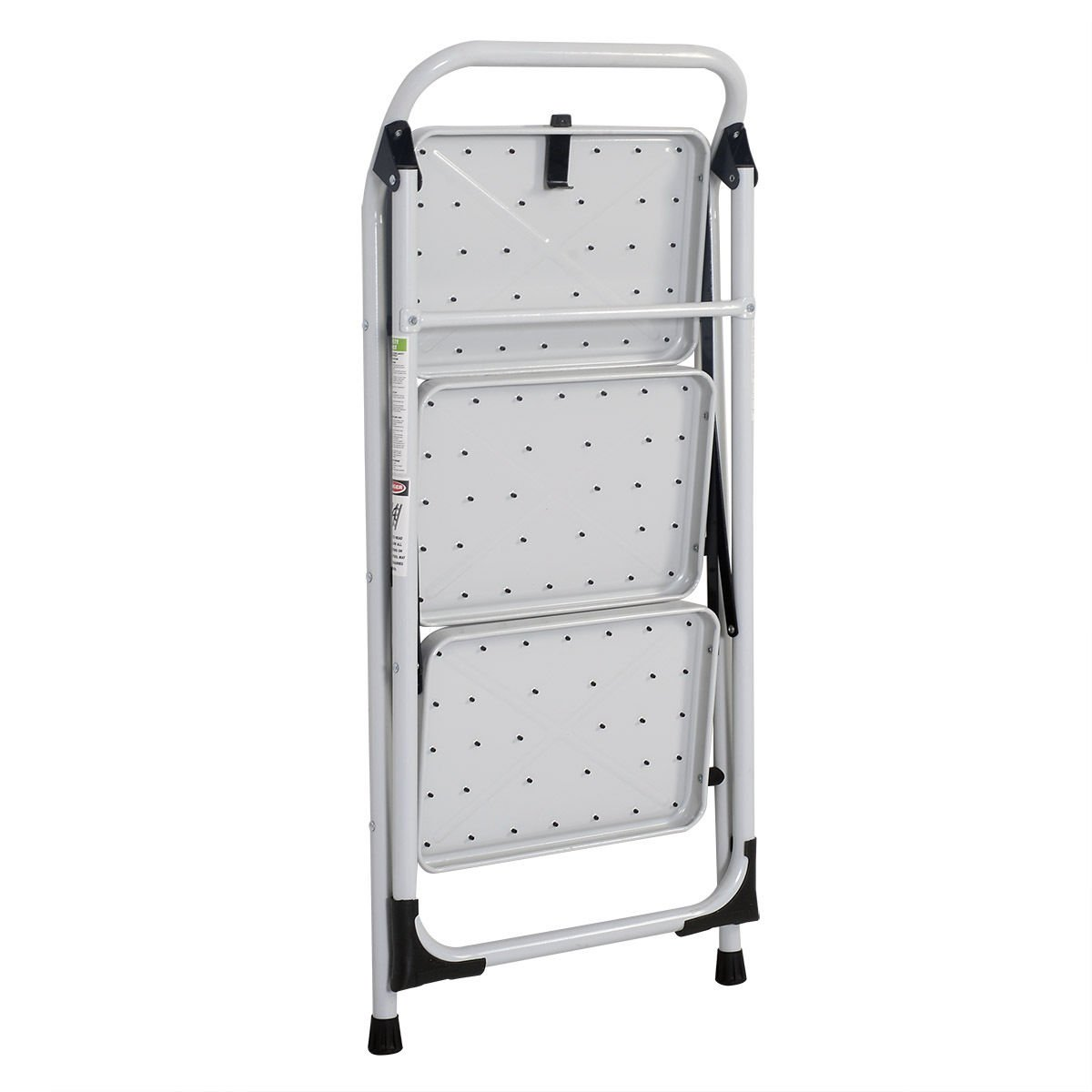 Z ZTDM Portable 3 Step Ladder with 330lbs Capacity Platform Father's Day Gift Lightweight Short Handrail Iron Folding Stool by Z ZTDM (Image #4)