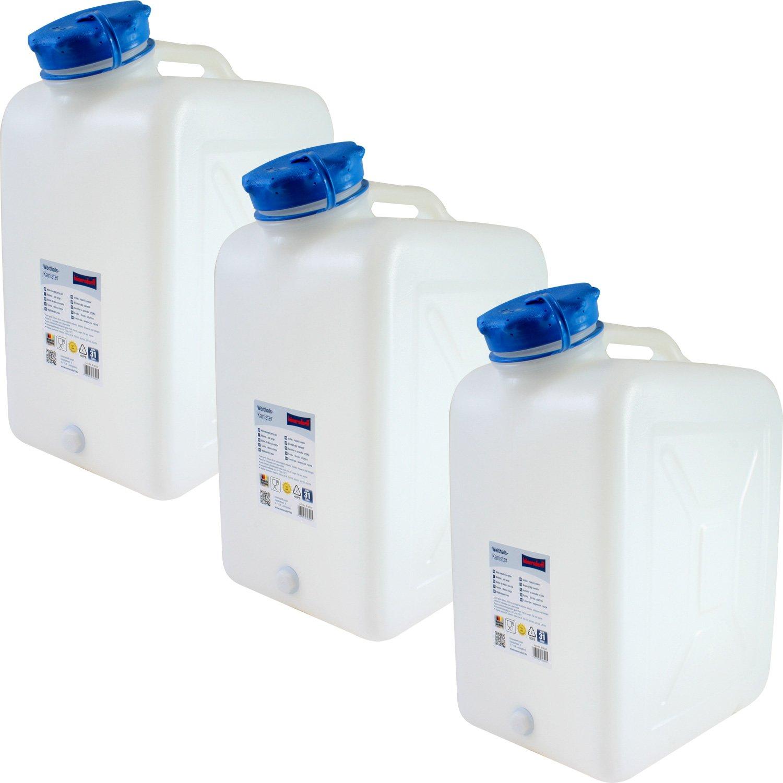3x Weithals-Kanister 31 Liter PRO 3er Set Lebensmittelkanister Wasserkanister Liter