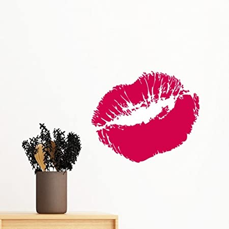 Diythinker Red Sexy Hot Lip Kiss Happy Valentines Day Removable