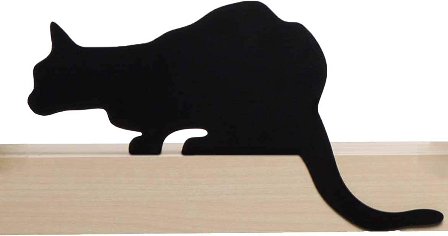 Artori Design Cat Figurine for Home Decorations and Living Room Decorations - Funny Cat Stuff for Cat Lovers - Metal Cat Decorations, Cat Statue for Shelf Decor - Churchill Black Cat Decor