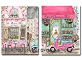 ideas for decorating a bedroom Personalized Paris Nursery Decor For French Themed Girls Room, Set Of 2, Twin Girl Nursery Decorating Idea, Pink French Baby Shower Gift, 6 Sizes