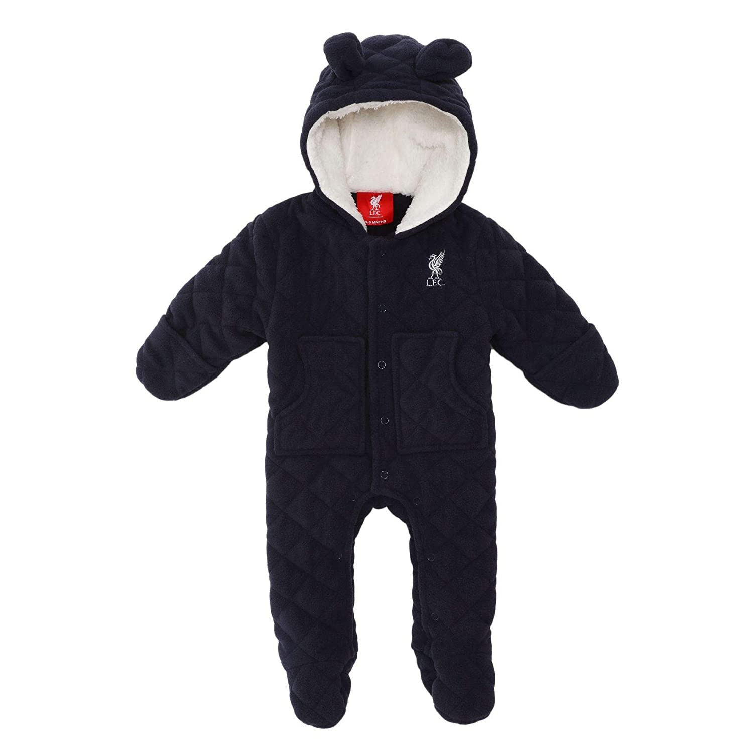 a410b5a5f82f Liverpool FC Blue Baby Boy Football Navy Quilted Snow Suit AW 18 19 ...