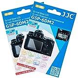 2 Packs JJC 0.01'' Glass Screen Protector for Canon EOS 6D Mark II / 6DM2 / 6D2 DSLR Digital Camera, Includes Shoulder Screen / Sub-screen PET Film Protector