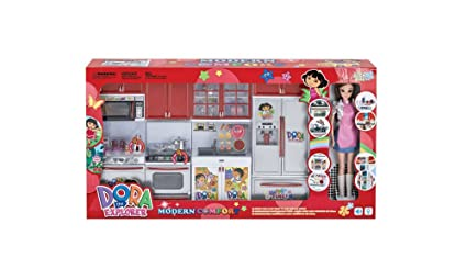 Buy Happykids Modern Comfort Kitchen Set With Doll Light And Music