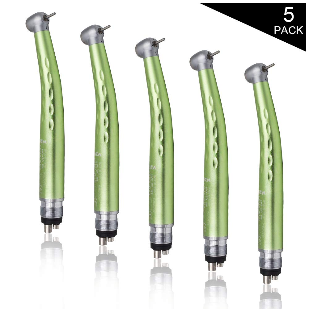 Green High Speed Push Button Type Hand Tool Standard Head 4 Holes (Pack of 5)
