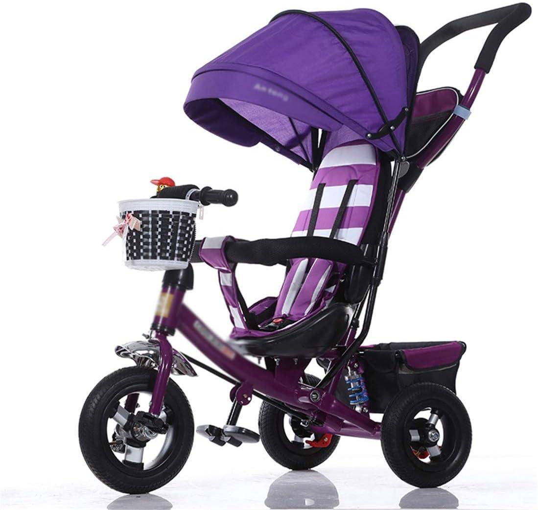 LZ Triciclo Puede mentir Bici del bebé de Peso Ligero Plegable 2-6 Niños 1-3 Niños Cochecito Infantil Cochecito con El Compartimiento