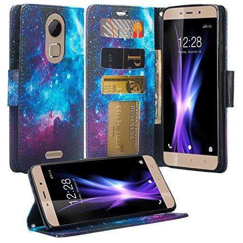 Coolpad REVVL Plus Case (T-Mobile), REVVL Plus Wallet Case, Flip Folio [Kickstand Feature] Pu Leather Wallet Case with ID&Credit Card Slot For REVVL Plus - (Cosmo)