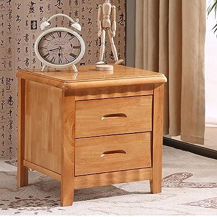 Amazon.com: QYSZYG Bedside Table Solid Wood Modern Minimalist ...