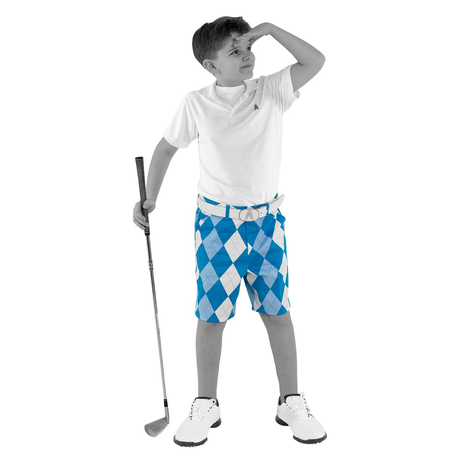 Royal & Awesome Kids Old Tom's Bright Golf Shorts - X-Large Age 14 Years by Royal & Awesome