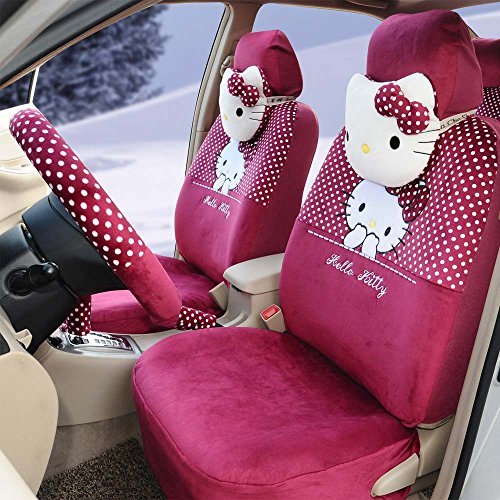 18pcs Ice Silk Universal Car Seat Covers Front and Rear S...