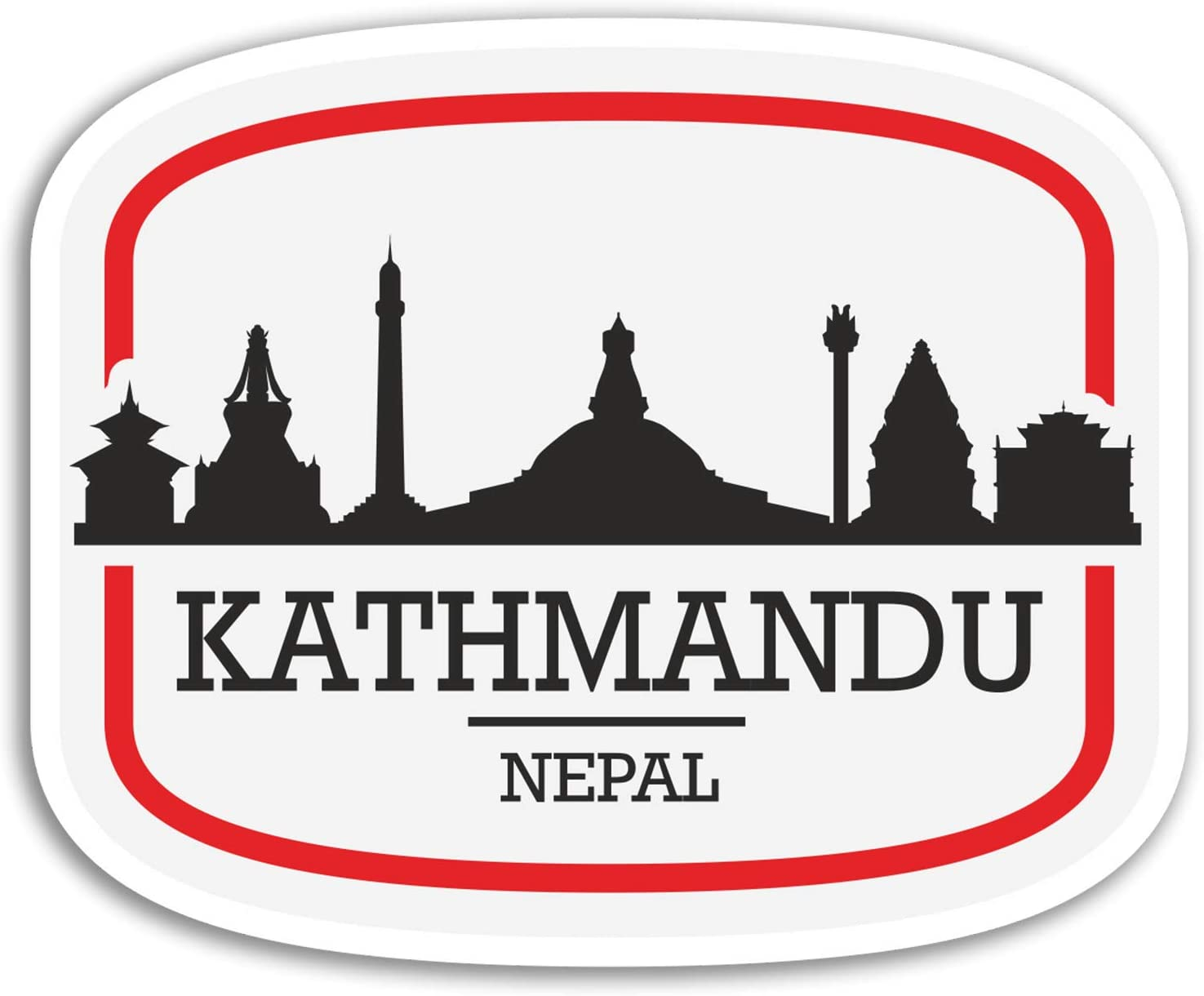 2 x 10cm Kathmandu Nepal Vinyl Stickers - Travel Sticker Laptop Luggage #17101 (10cm Wide)