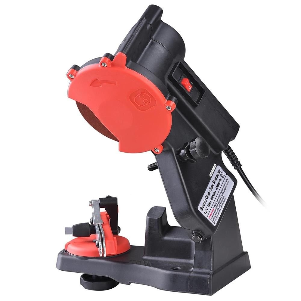 Bench Wall Mount Electric Power Chain Saw Sharpener | Grinding Wheel w/ Arbor | 4200RPM