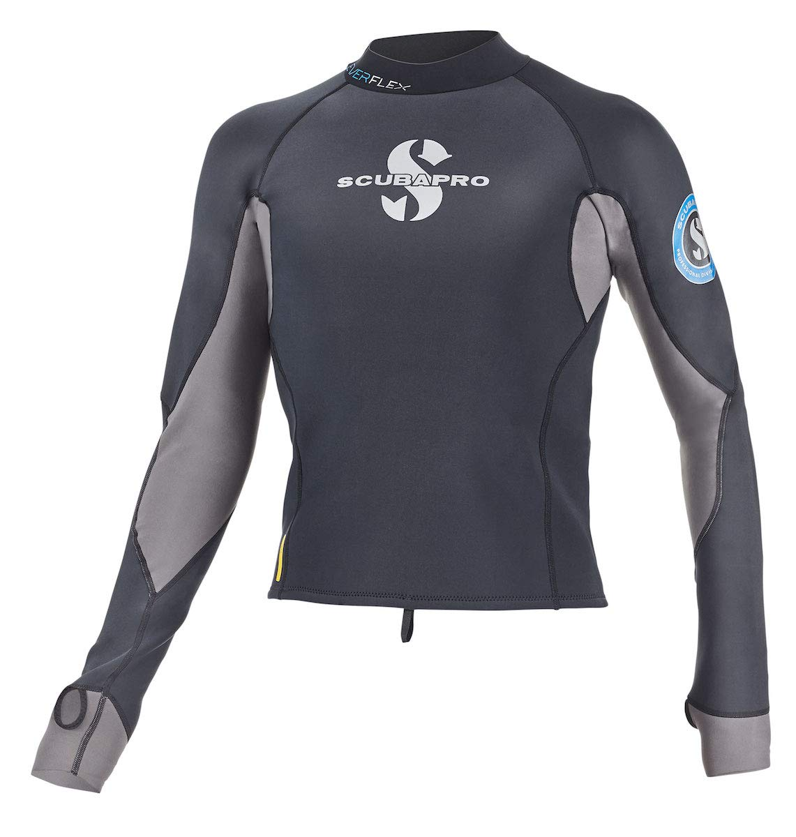 Scubapro Everflex 1.5mm Mens Long Sleeve Rash Guard Black, Size 3XL