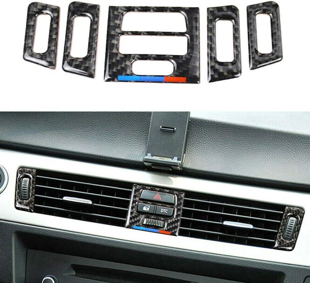 Ajboy Auto-Luftschlitzauslass f/ür BMW E90 E92 E93 Carbon Fiber 5.3cm 14.8