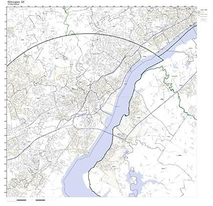 Amazon Com Wilmington De Zip Code Map Laminated Home Kitchen