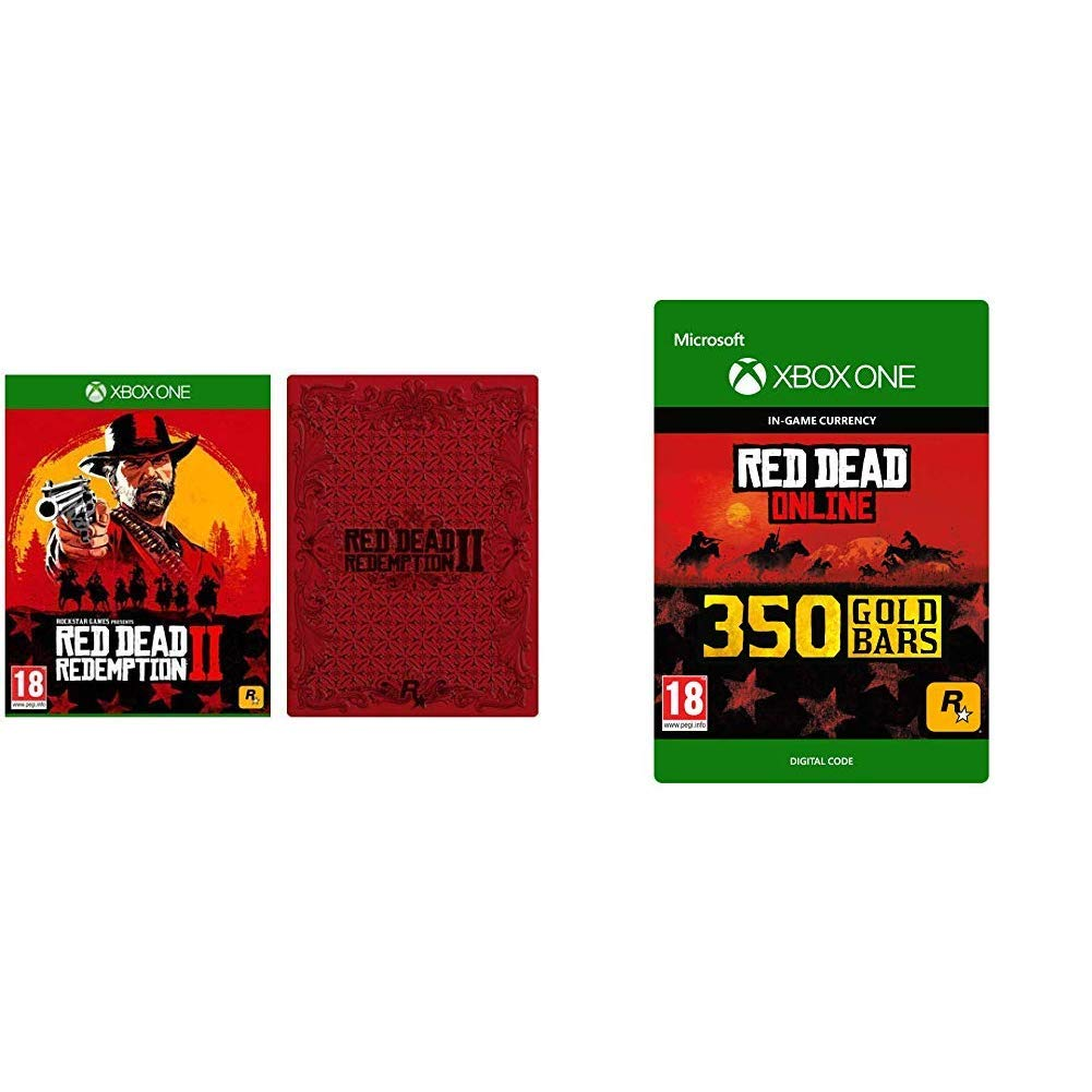 Red Dead Redemption 2 with Steelbook [Xbox One] + 350 Gold