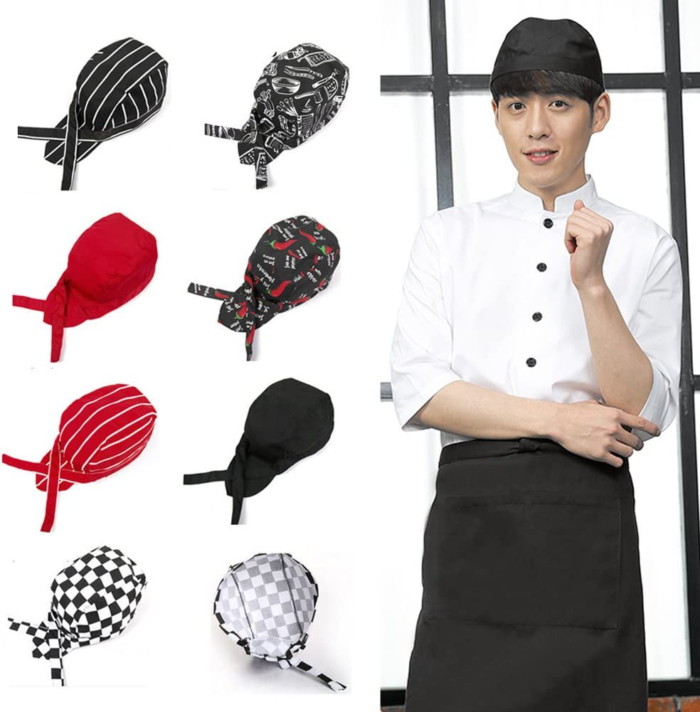 Xuniu Pirates Chef Cap Skull Cap Professionelles Catering Verschiedene Kochm/ütze