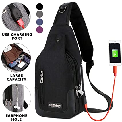 b0bb592e30 Amazon.com  Peicees Small Travel Gym Bike Canvas Sling Bag