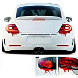 Iuhan Fashion Red Blood Car Stickers Reflective Car Decals Light Bumper Body Sticker Decal