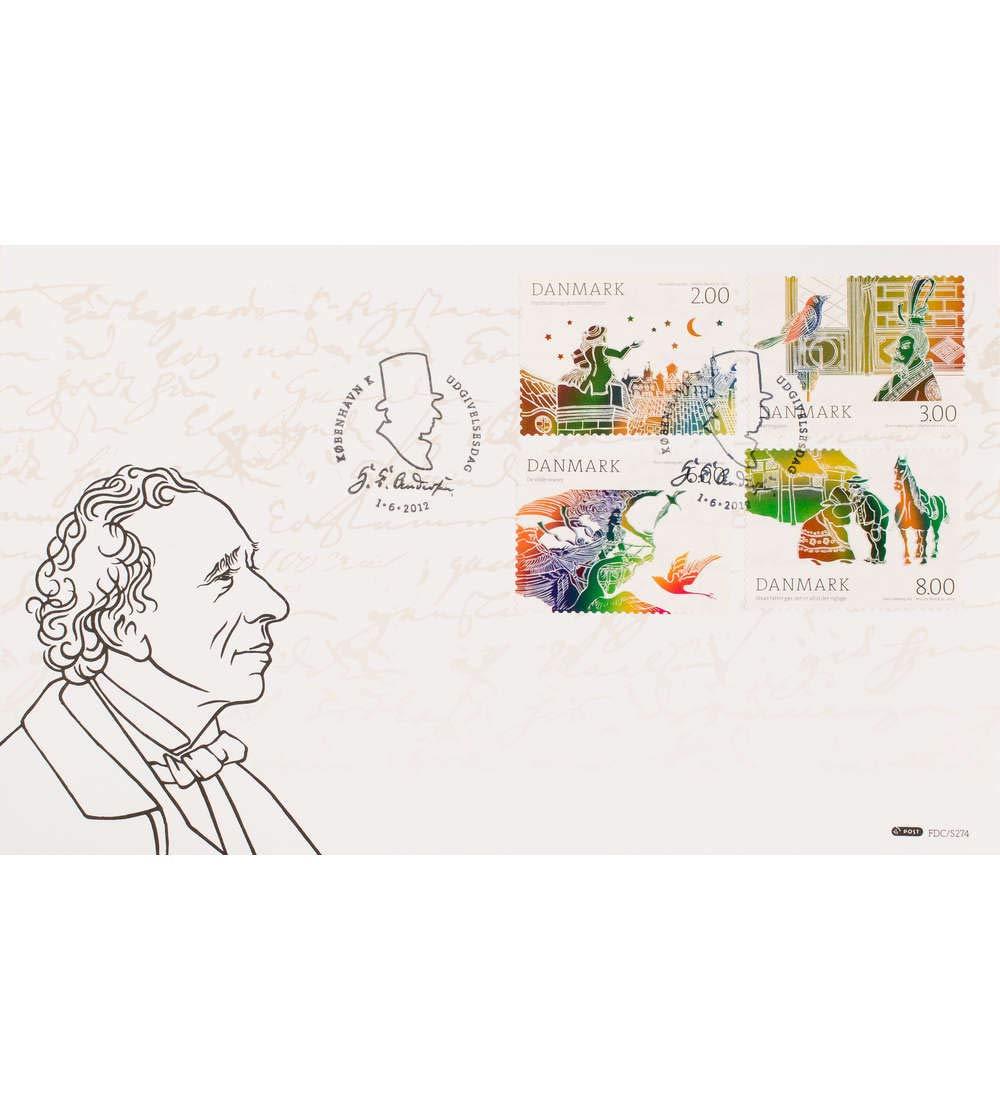 Goldhahn Dänemark Nr. 1701-1704A Ersttagsbrief Andersen-Märchen Briefmarken für Sammler