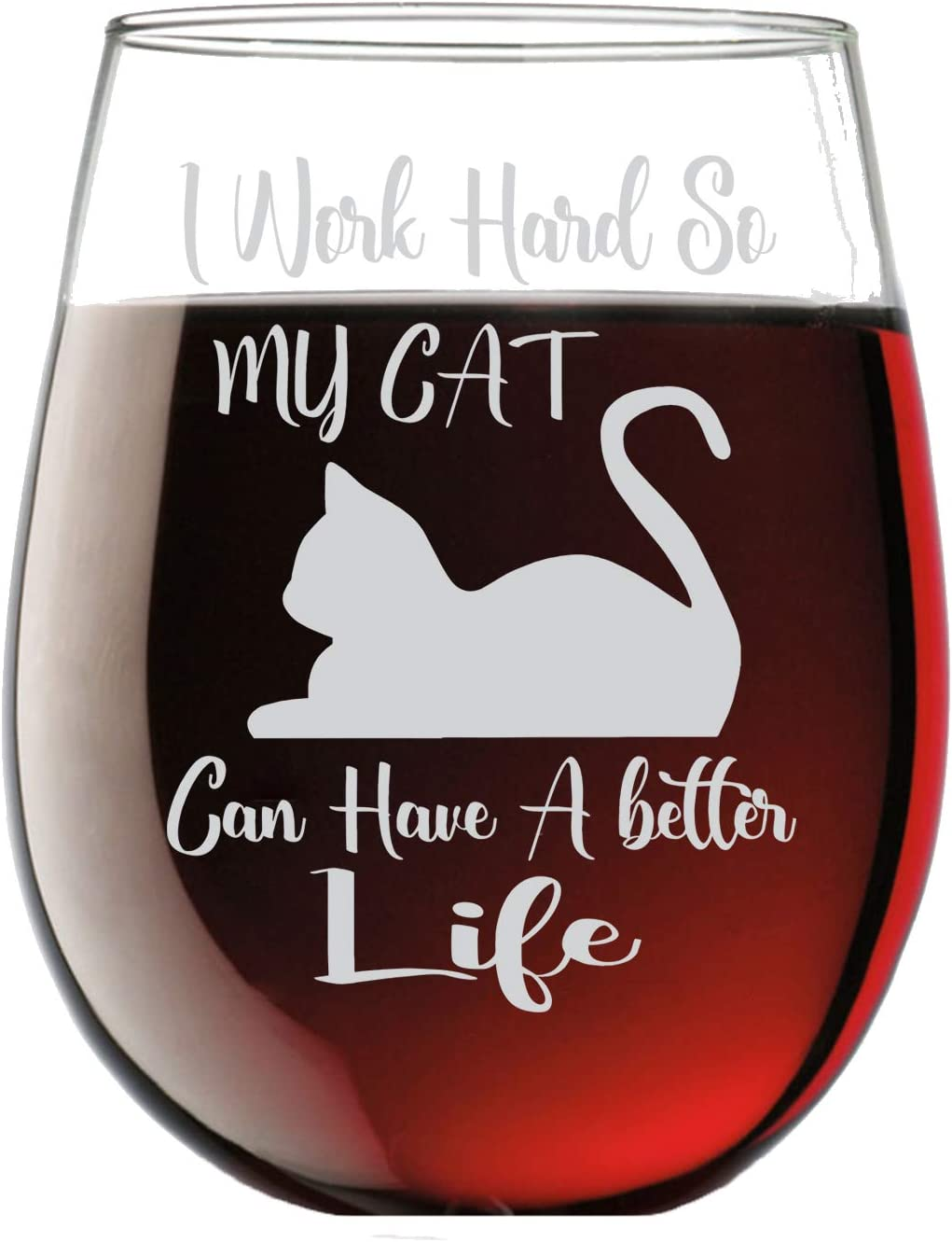 All I Care About Are Cats and Like 3 People 12 oz Wine Glass Stainless wine tumbler with straw Custom Personalized Laser Engraved Gift