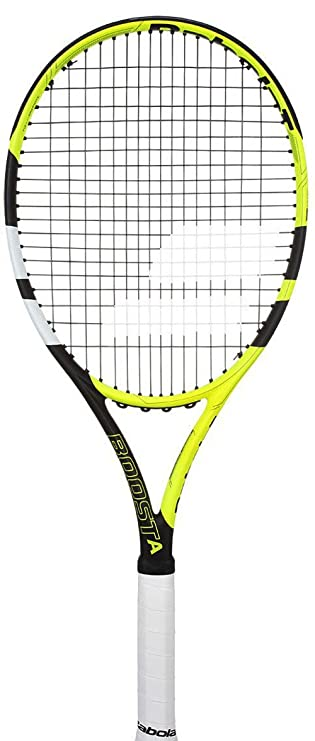 "Babolat Boost Aero Tennis Racquet (Strung), Grip Size - 43/8"" (Yellow Black White) Tennis Racquets at amazon"