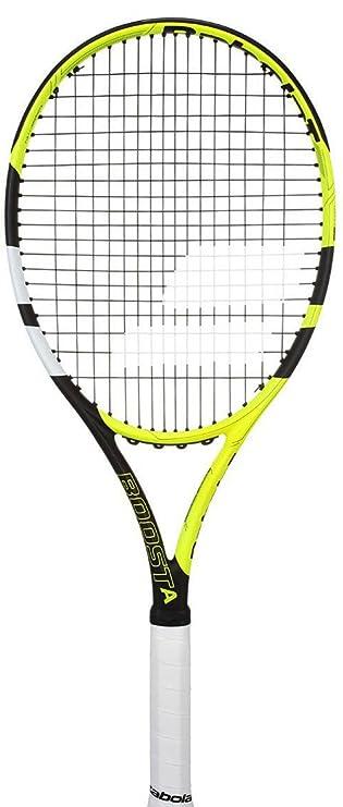 "Babolat Boost Aero Tennis Racquet (Strung), Grip Size - 43/8"" (Yellow Black White) Tennis Racquets at amazon"