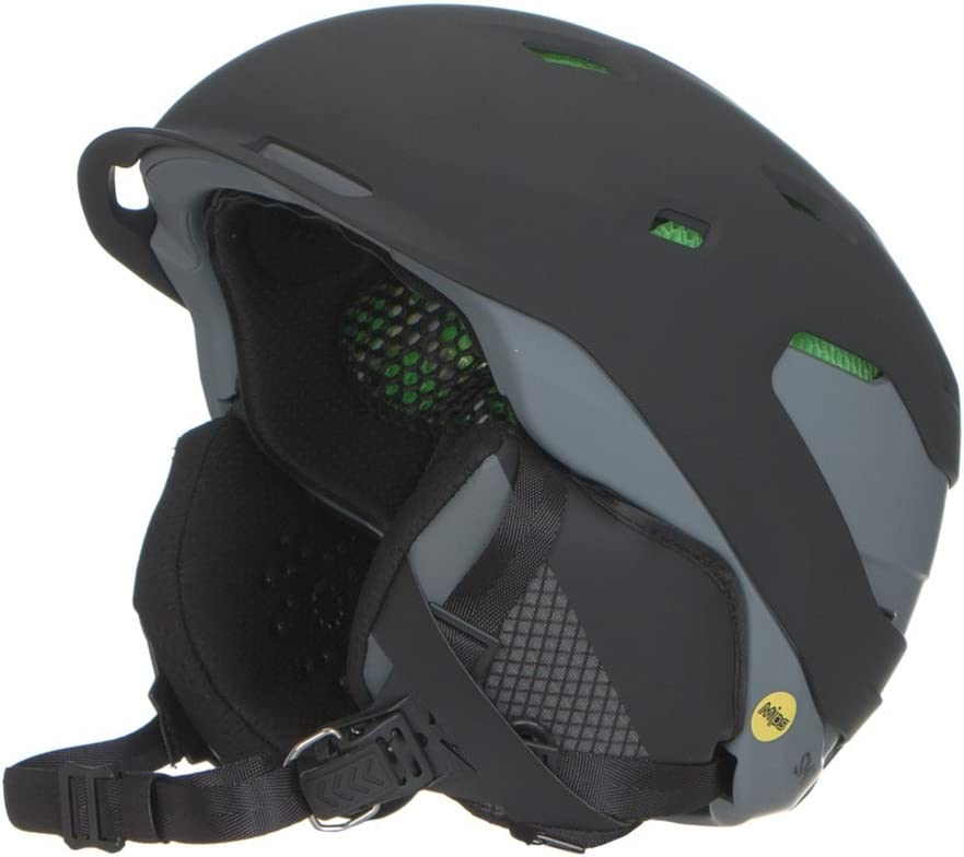 Smith Optics Quantum Adult Mips Ski Snowmobile Helmet – Matte Black Charcoal Medium