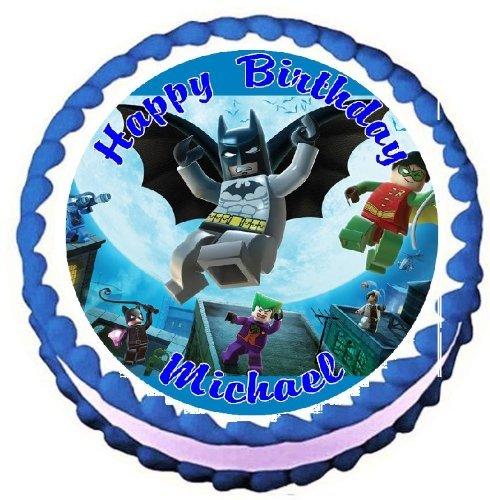 "Lego Batman Edible Frosting Sheet Cake Topper - 7.5"" Round"