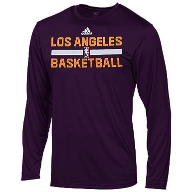 pretty nice b722e 8e178 Amazon.com: Los Angeles Lakers Purple Youth Climalite Long ...