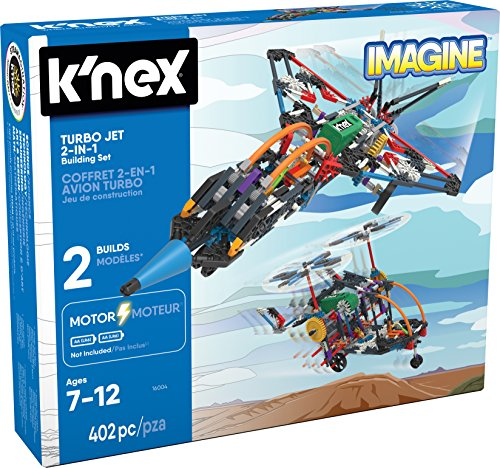 K'NEX - Turbo Jet - 2-in-1 Building Set - 402 Pieces - Ages 7+ - Engineering Educational ()