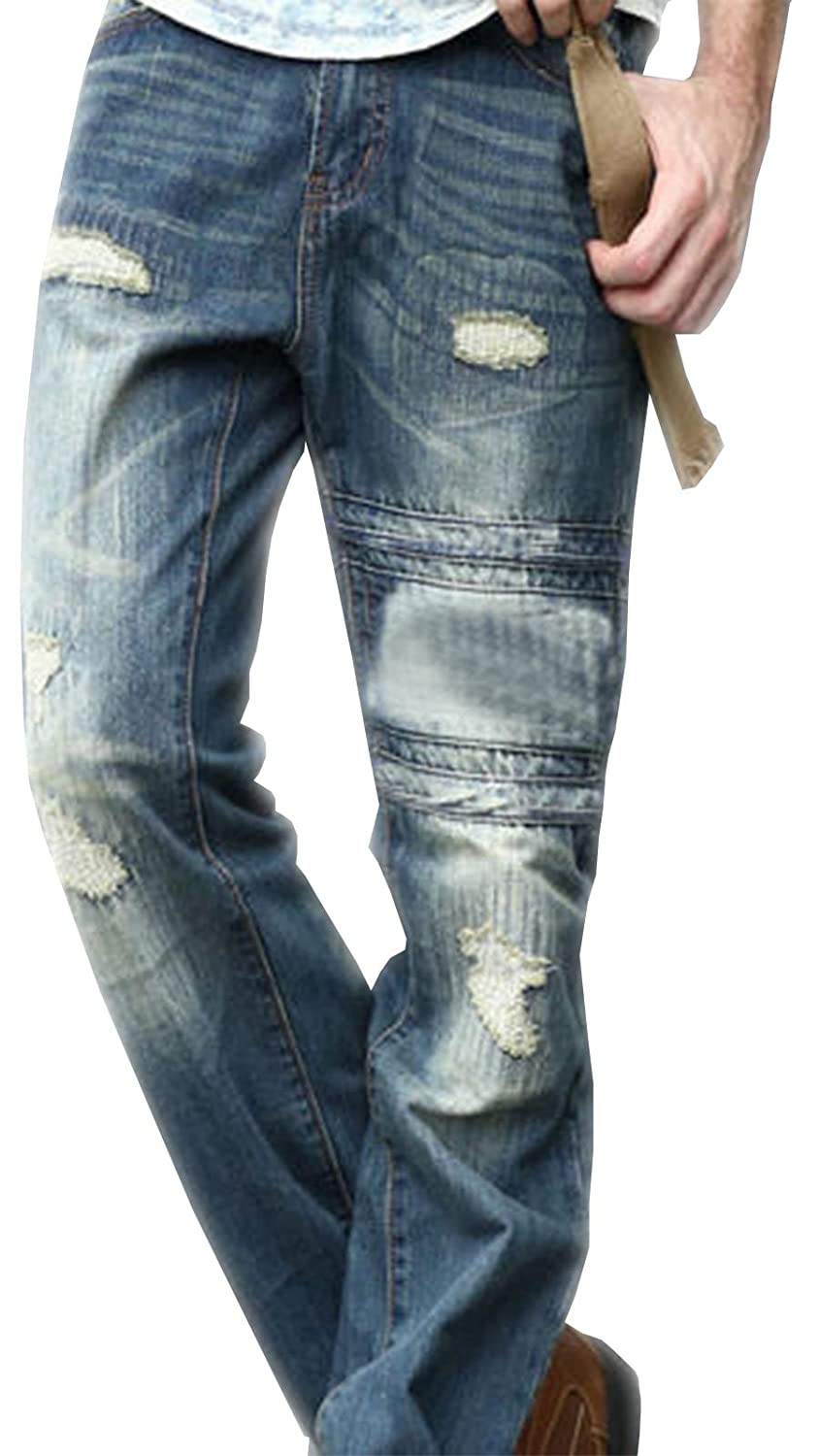 be57069ab88 newfacelook Mens Jeans Ripped Fashion Blue Denim Jeans Pants Trousers MAX   Amazon.co.uk  Clothing