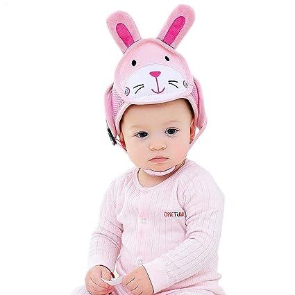 KOBWA - Casco de seguridad ajustable para bebés con arneses de protección para niños y niñas