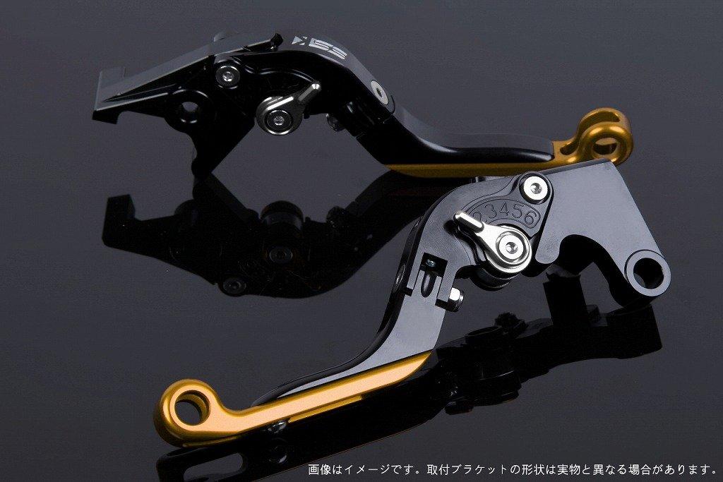 SSK アジャストレバー 可倒延長式 レバー本体カラー:ブラック アジャスターカラー:シルバー エクステンションカラー:ゴールド CRF1000L Africa Twin LVGG017BK-SRGD B07MXB7YGS