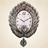 ideas for decorating a bedroom Znzbzt The Living Room Wall Clock Clock Peacock Mount Table Mute Large Antique Furniture Bedroom Decorating Ideas Wall Clocks /56x36cm