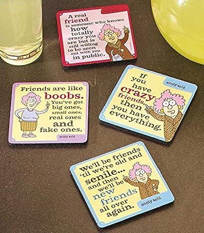 Set of 4 Aunty Acid Friendship Coasters
