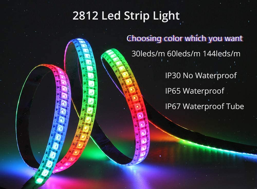5V WS2812B Led Strip Waterproof IP65 IP67 30Leds//m 60Leds//m 5M Neon 5V Led light