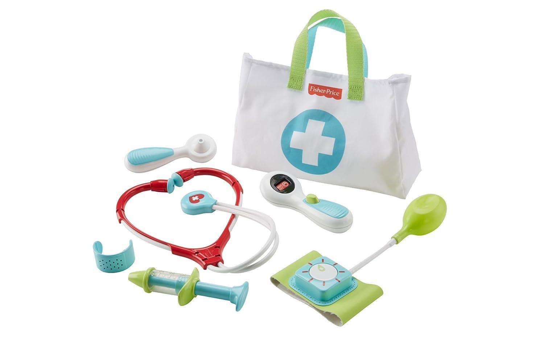Fisher-Price DVH14 Arzttasche 7-teiliger Doktorkoffer zum Rollenspiel, ab 3 Jahren Mattel empfohlenes Alter: ab 3 Jahre Non Books / Spielzeug Spiele für Drinnen