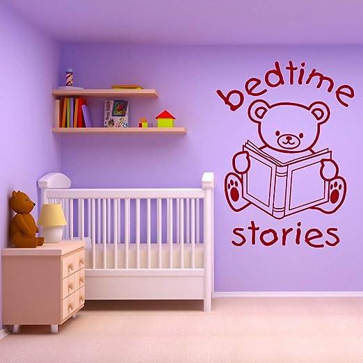 Pegatina De Pared Pegatina De Pared Frases Bear Bed Time